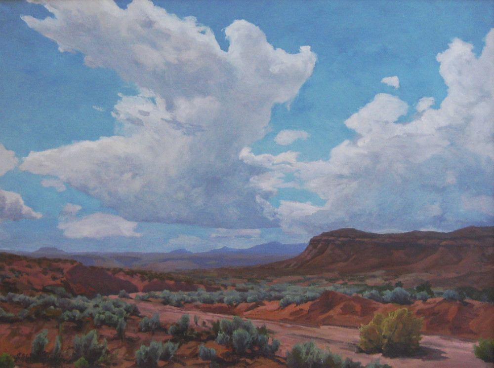 "Clouds over Marble Canyon 36""x42"" oil $7000"