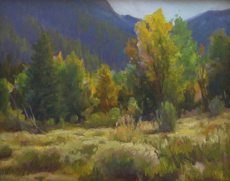 "Cottonwood Heather 16""x20"" oil SOLD"