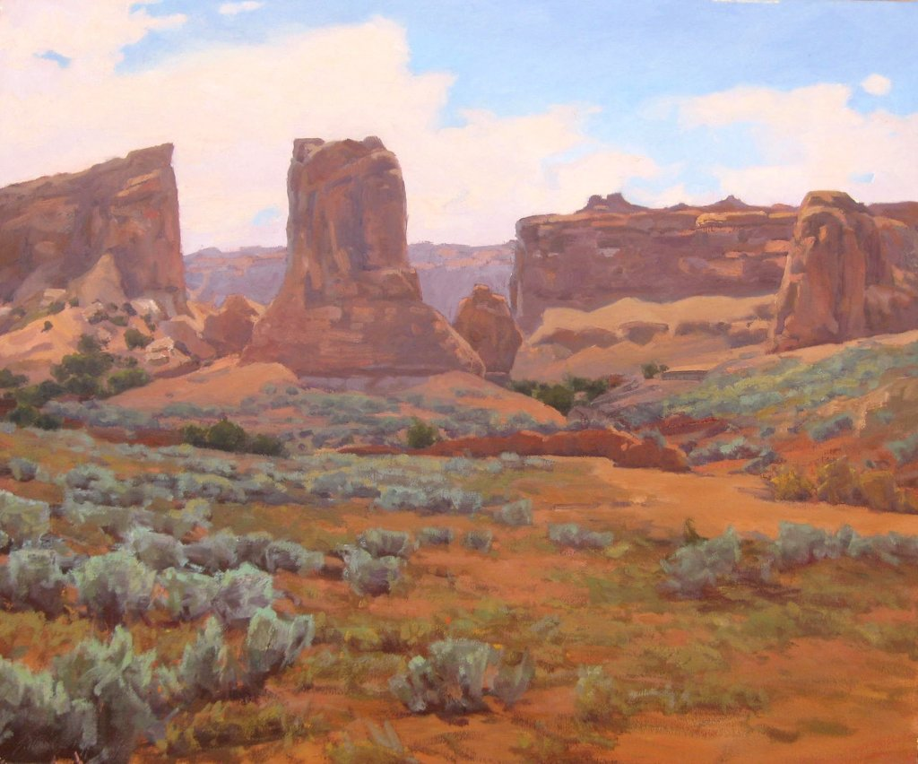 "Moab Buttes 16""x20"" oil $1500"