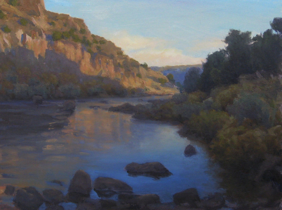 "Morning in the Gorge 12""x16"" oil SOLD"
