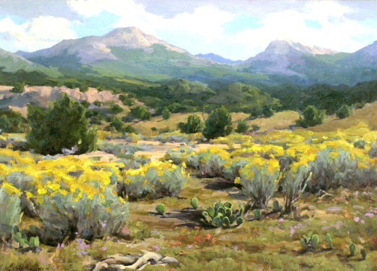 "On the Road to Chimayo 22""x30"" oil SOLD"