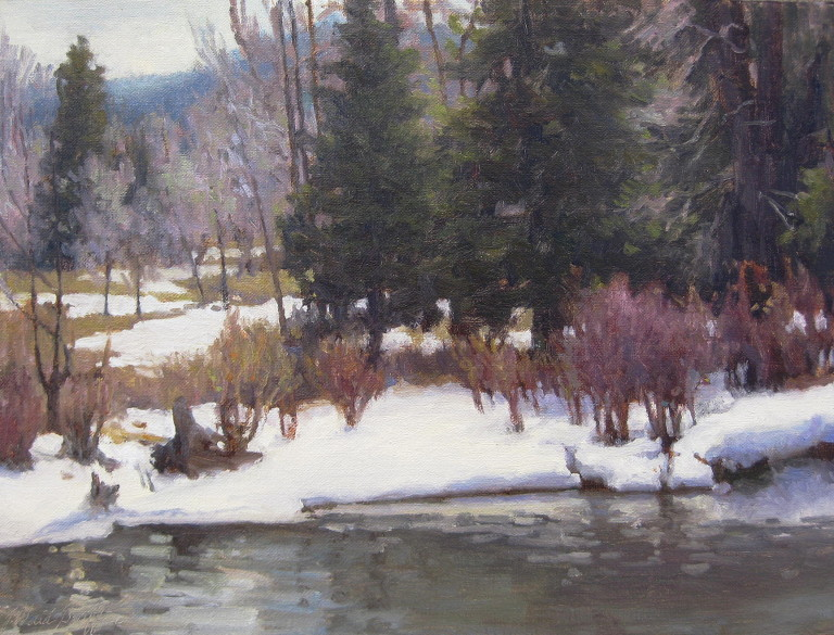 "Spring Thaw 12""x16"" oil SOLD"