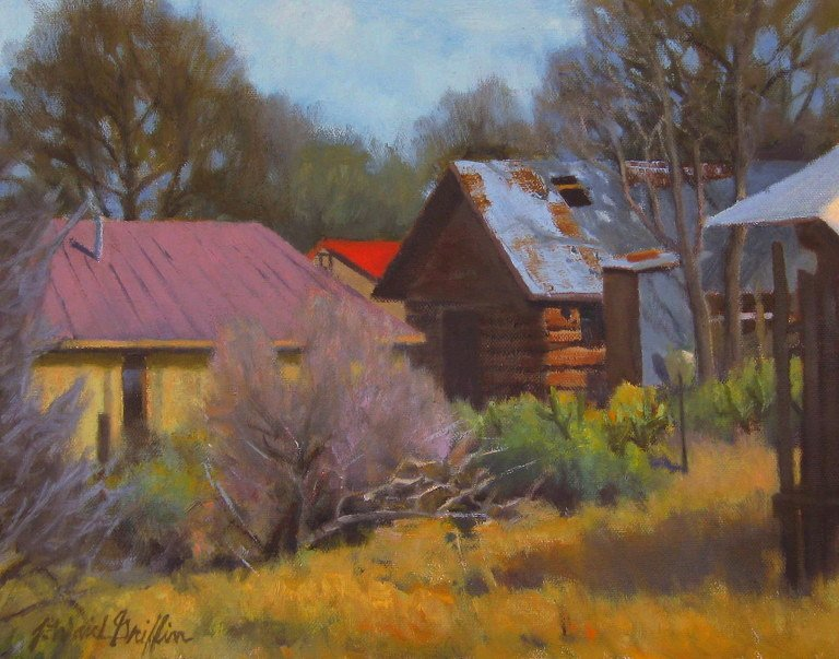 "The Back Way-Chimayo 12""x16"" oil SOLD"