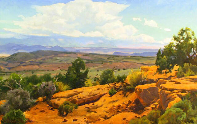 "Ute Country 24""x30"" oil $3400"
