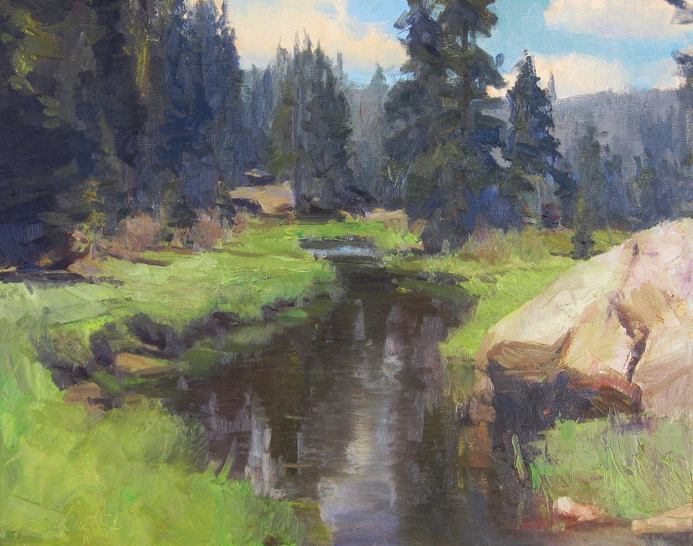 East Fork of the Jemez River 16x20 oil on canvas $1500