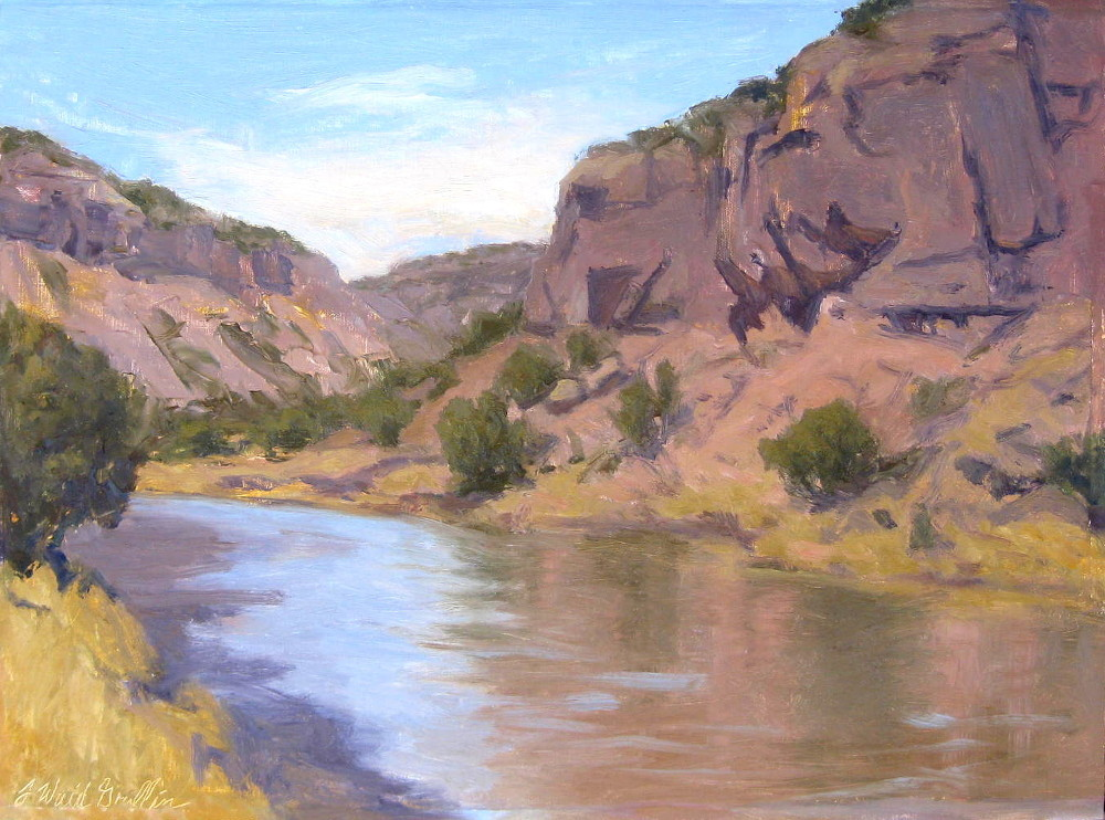 Chama River Bluffs 12x16 oil on lien $900